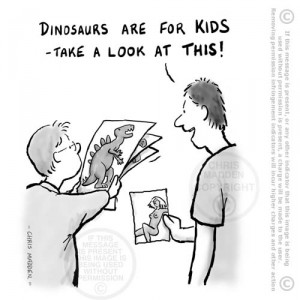 child development cartoon - dinosaurs are for kids