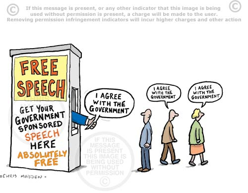 Free speech cartoon - get your free speech here