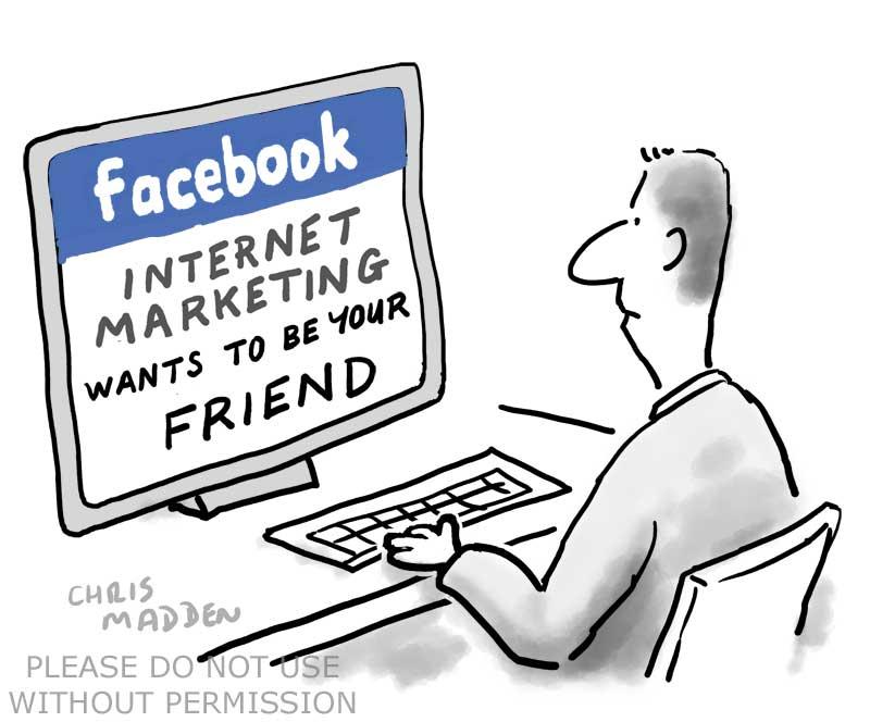 facebook internet marketing cartoon