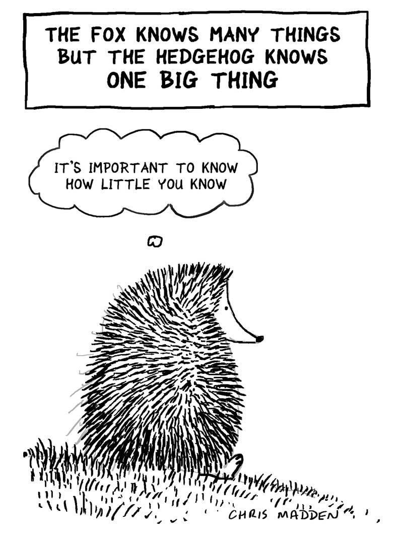 the fox knows many things - cartoon