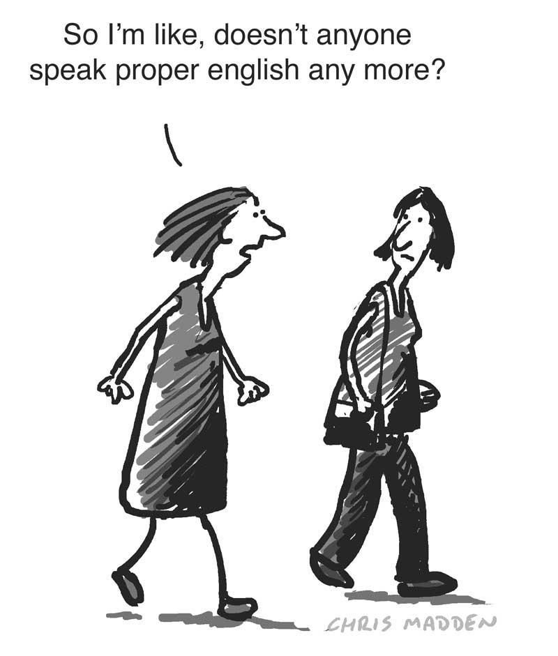 not speaking proper english cartoon