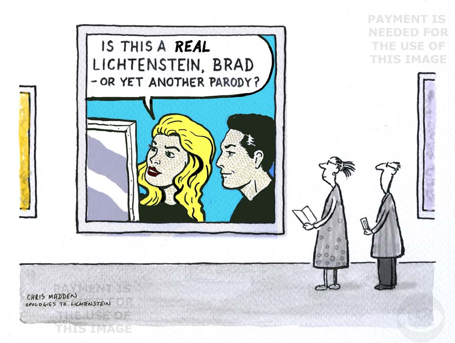lichtenstein parody cartoon