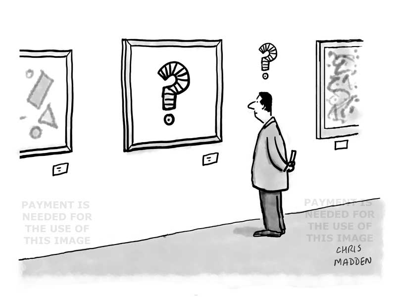 questioning contemporary art cartoon
