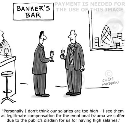 banking cartoon - bankers bonus