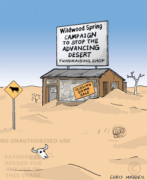 desertification cartoon