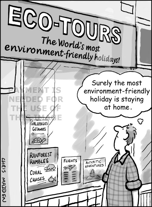 Eco holidays cartoon