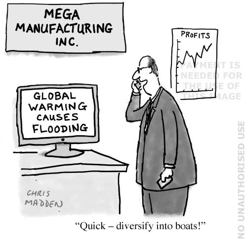 profiteering from global warming cartoon