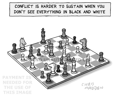Chess as a metaphor for conflict resolution