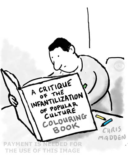 Cartoon - the adult colouring book craze