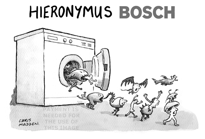 heironymus bosch washing machine cartoon