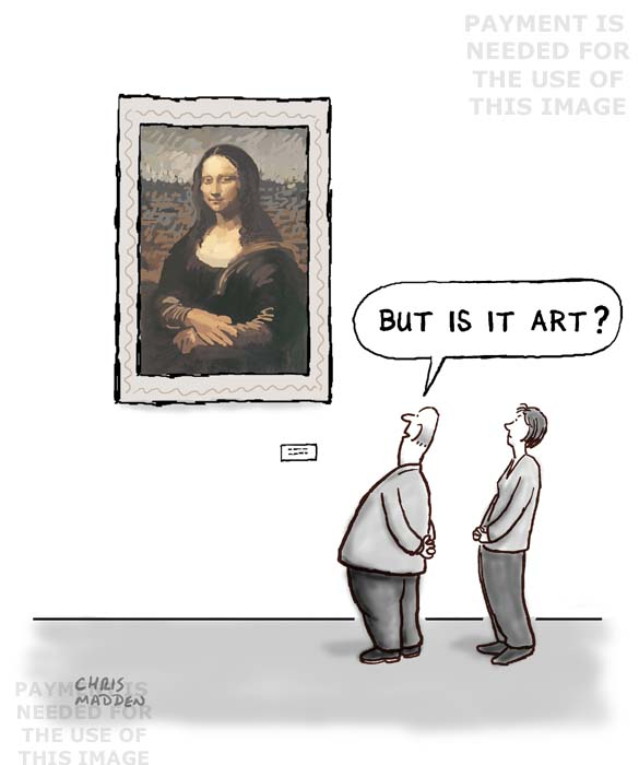 but is it art cartoon mona lisa