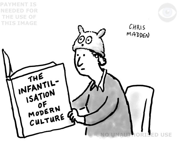 Infantilisation cartoon