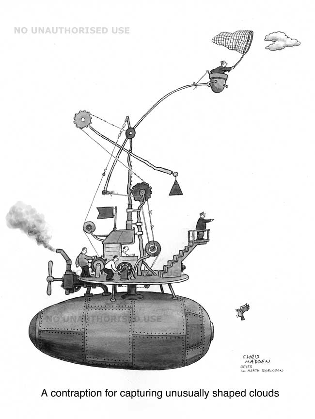 Tribute to William Heath Robinson cartoon