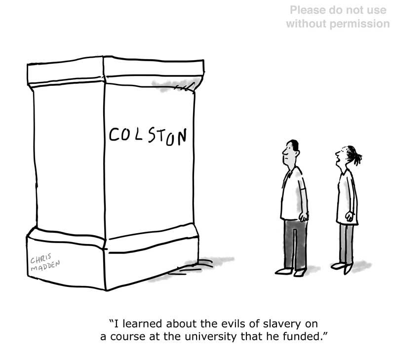 Colston statue cartoon