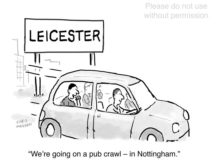 Leicester lockdown cartoon