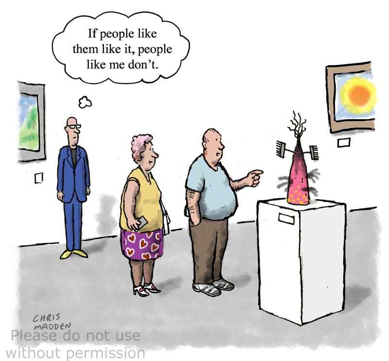 Art snob cartoon