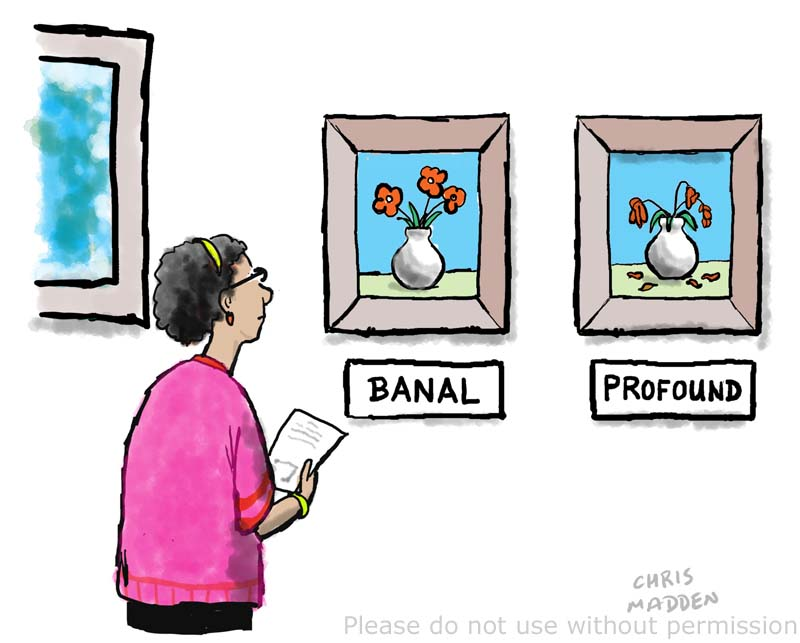 Profound art and banal art – cartoon