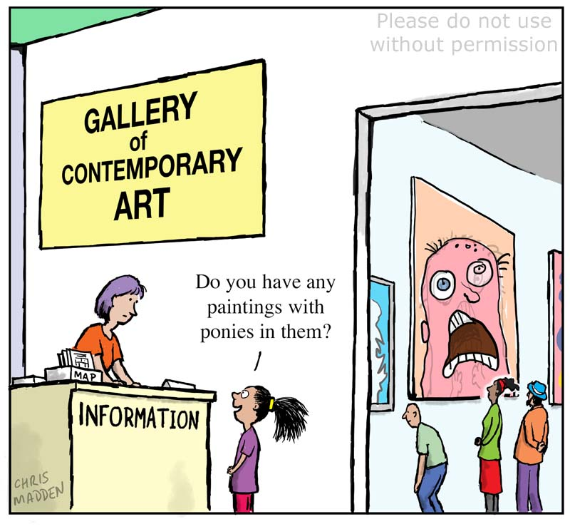 Contemporary art and art for children cartoon