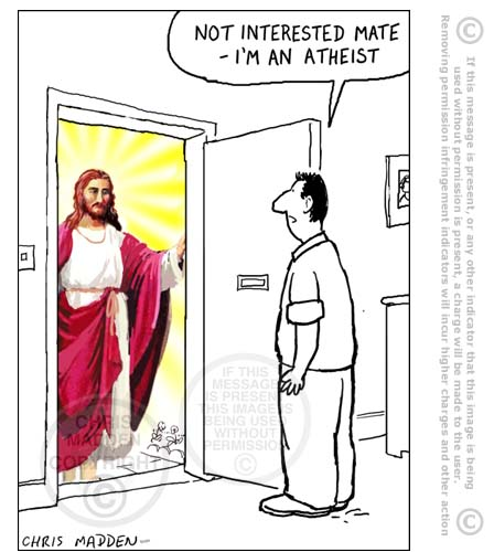 jesus at door of atheist