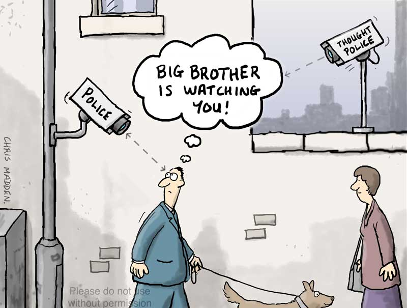 cartoon big brother thought police