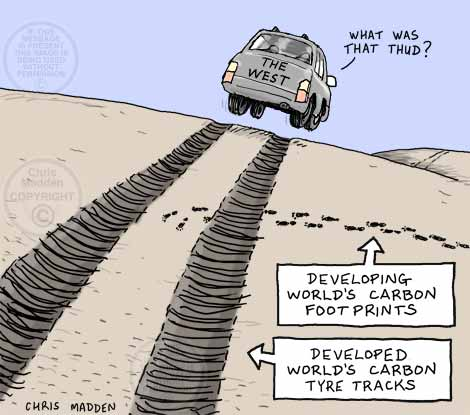 Carbon footprints and carbon tyre tracks