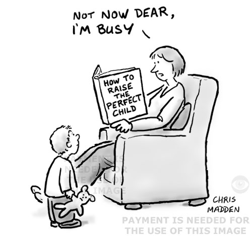 Cartoon - book on how to raise the perfect child