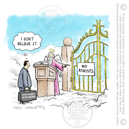 atheist-in-heaven-christopher-hitchens-dies cartoon