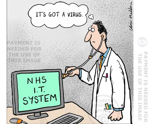 nhs computer virus cartoon