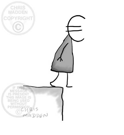 cartoon - euro crisis - walking off cliff