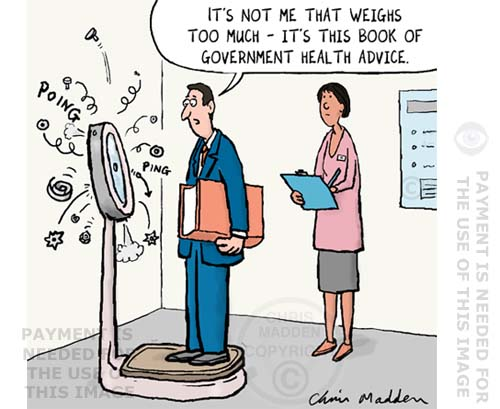 government health advice cartoon