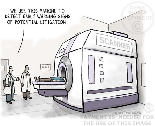 health service litigation cartoon