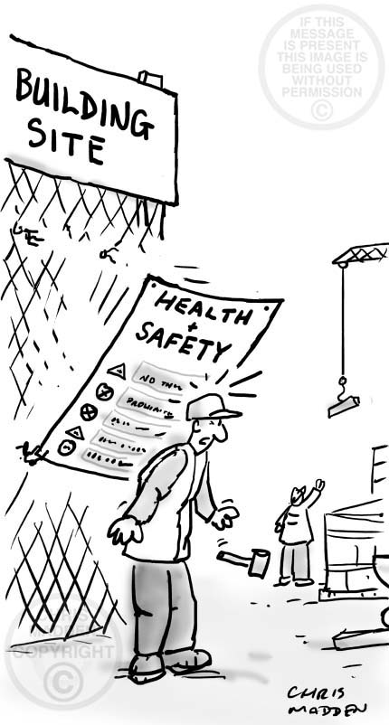 Health And Safety Cartoon A Dangerous Health And Safety