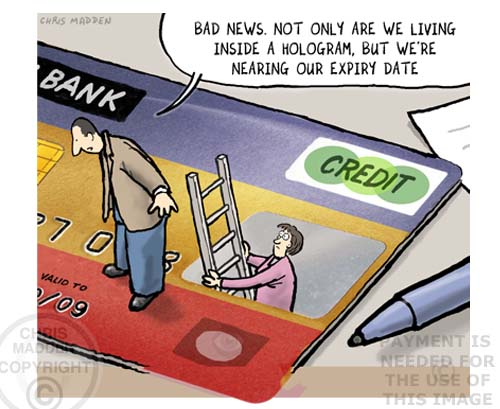 hologram credit card cartoon