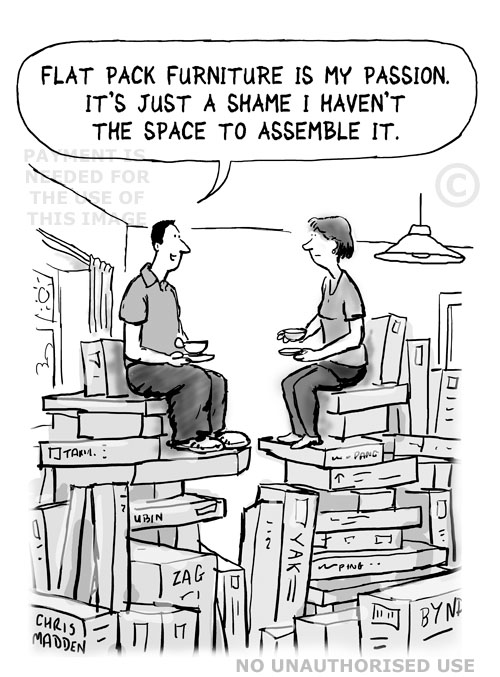 Flat pack furniture cartoon