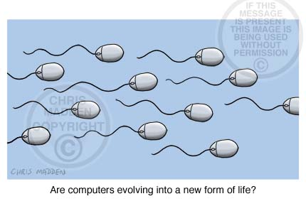 Artificial life illustration. Artificial sperm