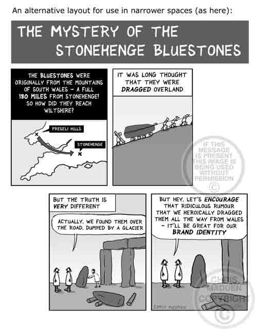 Stonehenge bluestones - glacier deposits