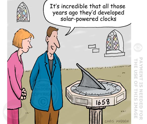 sundial cartoon