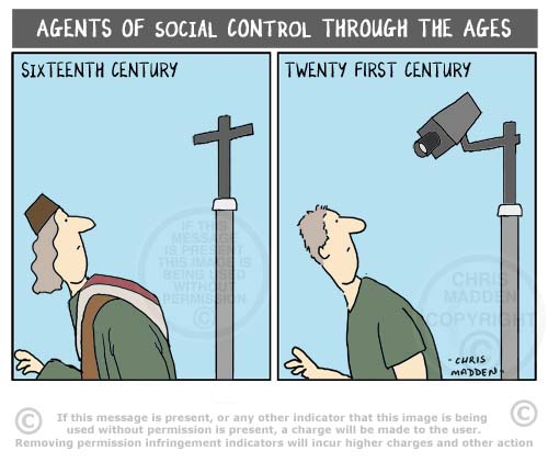 social control through the ages - cartoon