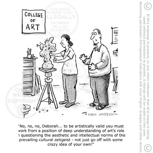 cartoon - what is art and what makes art valid?