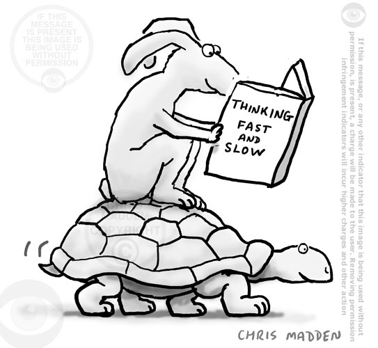 tortoise and hare thinking fast and slow cartoon