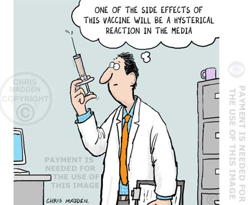 vaccination media scare cartoon